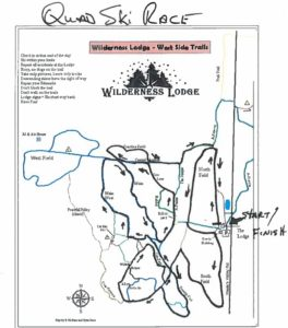 QUAD Ski Map at Wilderness