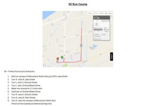 5K Quad Run Course Map